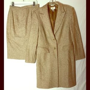Talbots Other - Talbots_Tweed_Long Coat & Skirt Suit_Size 4